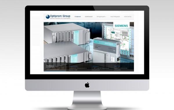 Корпоративный сайт Optiprom Group
